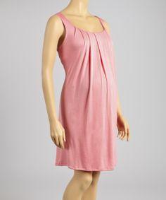 Zula Pink Maternity Sleeveless Dress