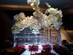 ice sculptur centerpieces - Google Search Ice Sculptures, Clean Design, Crystal Ball, Centerpieces, Chandelier, Sparkle, Ceiling Lights, Google Search, Crystals