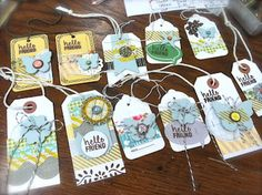 Tags by Mish (Michelle Wooderson) Decoupage, Handmade Gift Tags, Crafty Craft, Crafting, Candy Cards, Mish Mash, Paper Tags, Scrapbook Embellishments, Diy Scrapbook