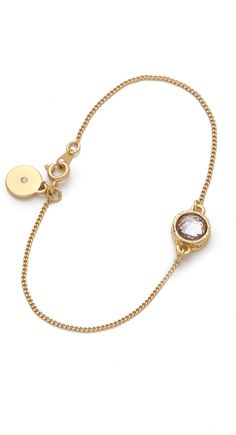 MARC BY MARC JACOBS  Gold Paste Prints Tiny Crystal Bracelet