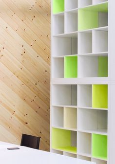 Brighten your Expedit shelf with some neon paint. #design