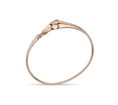 "Hermes bracelet in rose gold set with diamond (0.03 ct), TPM, size small. Adjustable from 5.7"" to 5.9"" long"