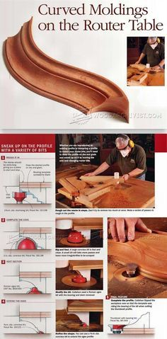 Making Curved Molding - Furniture Molding Construction Techniques | WoodArchivist.com