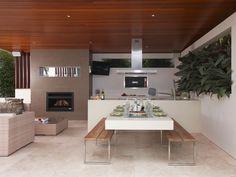 modern outdoor kitchen design - Google Search