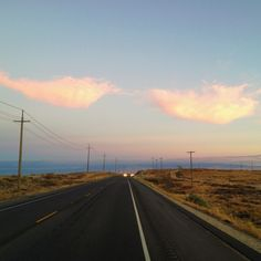 Cotton candy #pink #clouds #road