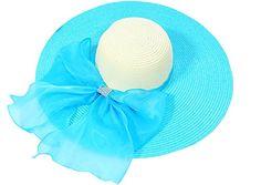 Kaisifei Bowknot Casual Straw Women Summer Hats Big Wide Brim Beach Hat (Blue) Kaisifei http://www.amazon.com/dp/B00ZACF9UE/ref=cm_sw_r_pi_dp_d12Pvb0JTNKGV