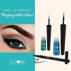 Make-Up Idea: Προσθέστε χρώμα στo all-time-classic μαύρο eyeliner ! Τραβήξτε μια επιπλέον γραμμή με ένα χρωματιστό eyeliner της επιλογής σας - Προτείνουμε πράσινο ή μπλε για καλοκαιρινά looks!  #loviecosmetics #eyeliners #makeupideas #inspiration Black Eyeliner, Make Up, Eyeshadow, Lipstick, Cosmetics, Color, Inspiration, Beauty, Maquillaje