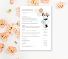 Creative Resume template with cover letter CV template by landedCo