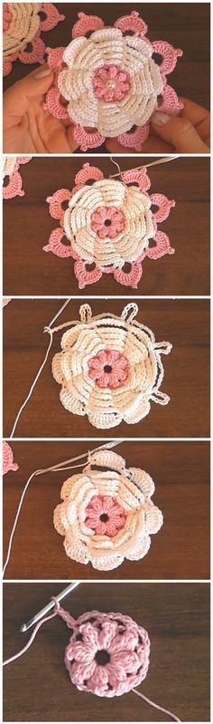 How To Make Spring Flower - Crochet Tutorial