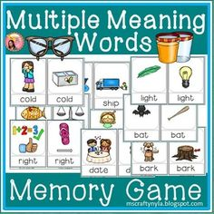 Multiple Meaning Word Memory Game