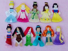Princess Hair Bow Clips or Pins Pick One - Cinderella, Aurora, Tiana, Belle, Snow White, Mulan, Pocahontas, Ariel, Jasmine, Merida, Rapunzel...