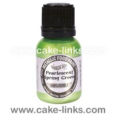 Pearlescent Spring Green - Metallic Food Paint