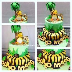 Jungle Bunch Birthday Party Cake