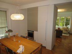 #Küchenschrank als #Raumteiler weiß lackiert