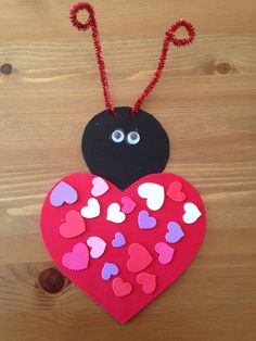 Hello Beautiful People, Spring Crafts For Kids Preschool Toddlers Art Projects We prepared new images for For More You Can Visit Our Site. Preschool Valentine Crafts, Preschool Arts And Crafts, Ladybug Crafts, Preschool Projects, Valentines Day Activities, Craft Activities For Kids, Valentine Day Crafts, Holiday Crafts, Craft Kids