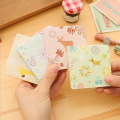 I15 50pages Elegant Landscape Animal Deer Cartoon Sticky Notes Message Planner Writing Memo Pad School Office Supply Decor Stick #Affiliate