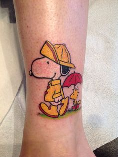 My fourth and favorite Snoopy tattoo