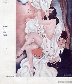Klem 1934 Danaë, Gold Rain, Sexy Looking Girl Topless