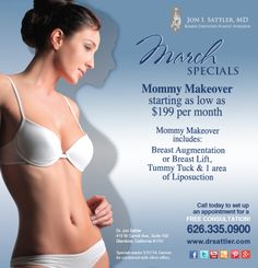 Introducing our March Specials! #PlasticSurgery