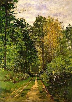 1865 Claude Monet (French Impressionist; 1840-1926) ~ 'Wooded Path'