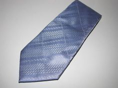 """Kenneth Cole Handmade Necktie Blue 100% Imported Silk Tie 57"""" Long  #KennethCole…"""
