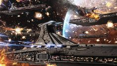 """Clone Wars: Republic Venator Fleet"" by #AndreasBazylewski.  #sciencefiction #scifi #StarWars"