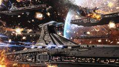 """Clone Wars: Republic Venator Fleet"" by #AndreasBazylewski.  #sciencefiction #scifi #StarWars"