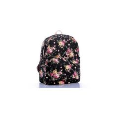 Floral Canvas Backpack ($33) ❤ liked on Polyvore featuring bags, backpacks, accessories, floral bag, floral backpack, knapsack bags, floral print bag and canvas knapsack