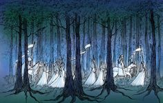 Manelle Oliphant Illustration: Wood Elves Returning to the Undying Lands History Of Middle Earth, Wood Elf, Watercolor Projects, Jrr Tolkien, The Hobbit, Hobbit Hole, Medieval Fantasy, Lord Of The Rings, Artsy