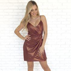 267c269efa0 Haute Gold Shine Bodycon Dress - Dainty Hooligan Boutique Shiny Fabric