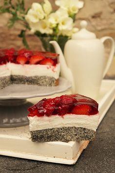 TORTEN LUST: {Rezept} Mohn-Quark-Erdbeer-Torte