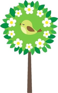 bird in tree Spring Crafts For Kids, Paper Crafts For Kids, Preschool Crafts, Diy And Crafts, Arts And Crafts, Class Decoration, School Decorations, Spring Art, Spring Activities
