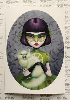 Scarlett Madcat - Girl Wonder 5x7 Fine Art Print by Mab Graves