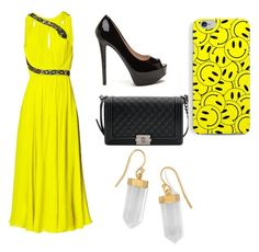 """""""#yellow"""" by dragana157 ❤ liked on Polyvore featuring Matthew Williamson, Chanel and BillyTheTree"""