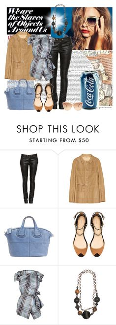 """""""SLAVES OF OBJECTS"""" by gustosa ❤ liked on Polyvore featuring Valentino, Givenchy, Zara, Vivienne Westwood Anglomania and Linda Farrow"""