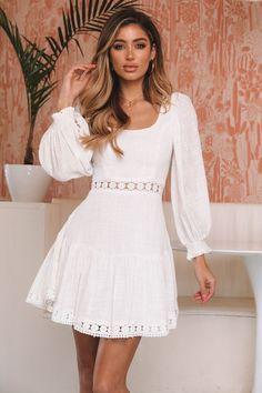 Search results for: 'white lace dress' Casual Dress Outfits, Stylish Dresses, Fashion Dresses, White Dress Casual, Estilo Hippie, Short Dresses, Summer Dresses, Ladies Dress Design, White Lace