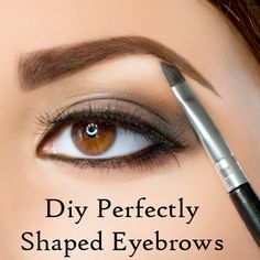 Perfectly Shaped Eyebrows... Something EVERY woman should know.  No need to look surprised all the time!  Over plucking... YUCK!