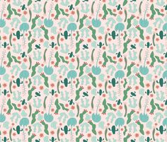 Cactus - pink fabric by valeri_nick on Spoonflower - custom fabric