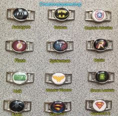 Custom+Super+Hero+Paracord++Shoe+Lace+Charm+by+CreationsbyDewDrop,+$2.49