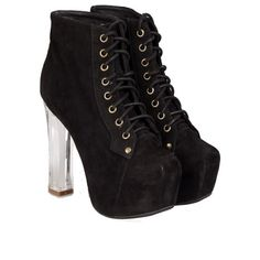 JEFFREY CAMPBELL Lita Light suede ankle boots (€48) ❤ liked on Polyvore featuring shoes, boots, ankle booties, black, black booties, short suede boots, ankle boots, black bootie and jeffrey campbell booties