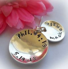 Sterling Silver Personalized Bible Verse Pendant -- ChristianGiftsPlace.com Online Store