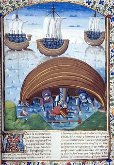 Medieval manuscript of Boccaccio's Fall of Princes