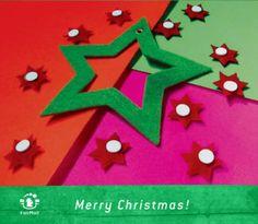 Merry Christmas   @FairMail - Fair Trade Cards - DR307-E   Star, Felt, DIY