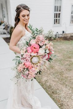 Ohio wedding photographer, dayton wedding photographer, light and airy, wedding Home Wedding, On Your Wedding Day, Purple Palette, White Anemone, Pink Bouquet, Wedding Gallery, Wedding Bouquets, Bride, Ohio