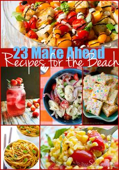 23 Make Ahead Recipes for the Beach {The Weekly Round UP} - This Silly Girl's Life