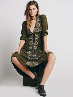 It's gotta be a maxi, tho.. Free People Embroidered Fable Dress, $168.00