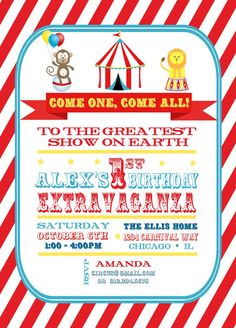 Vintage Circus Baby Shower Party Pack Etsy  Baby ShowerBaby Bday