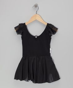 Take a look at this Black Angel Sleeve Skirted Leotard - Toddler & Girls by Ballerina Girl on #zulily today!
