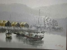 Old hong kong cheung chau harbour