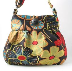 floral messenger tote diaper bag purse handbag by daphnenen